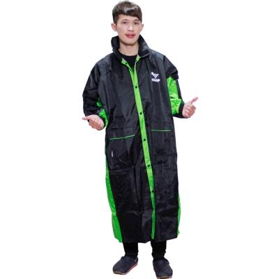 新二代 JUMP新帥前開式休閒風雨衣超大尺寸5XL-黑綠