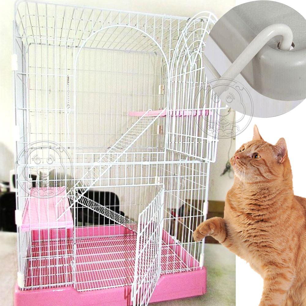 dyy》滾輪可移動式大底盤貓籠附樓梯及底板(插梢款)78*56*117cm
