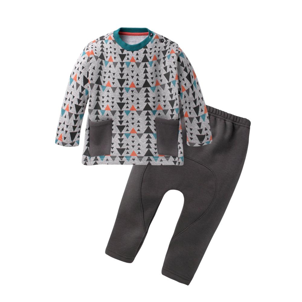 baby童衣 兒童套裝 圓領大口袋上衣加褲子 60280