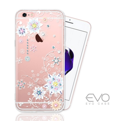 EVO CASE IPhone 6S Plus奧地利水晶彩繪防摔手機鑽殼-冰花