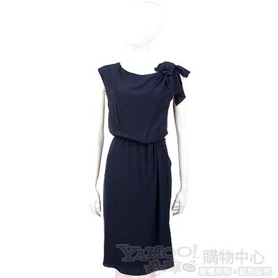 PHILOSOPHY-AF 深藍色蝴蝶結肩飾洋裝