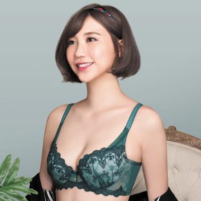 莎薇 魔力推推系列D-E 罩杯內衣(深綠)-