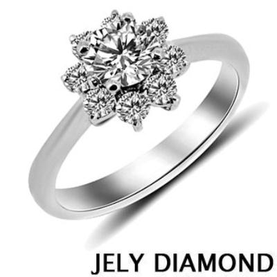 JELY Alluring 0.30克拉H&A八心八箭美鑽戒指