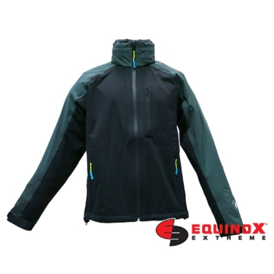 EQUINOX 輕量防水透溼戶外運動風衣-男款黑綠