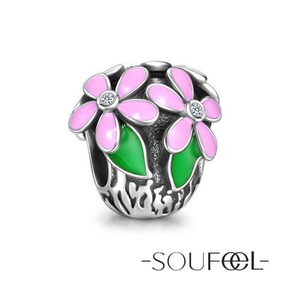 SOUFEEL索菲爾 925純銀珠飾 雛菊花 串珠