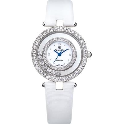 奧林比亞之星 Olympia Star 星空幻影真鑽時尚腕錶-無暇白 28019DLW