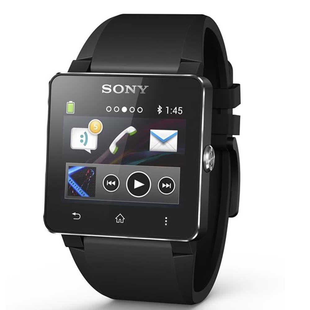SONY SW2 NFC 藍牙手錶-經典版( 黑色矽膠錶帶)