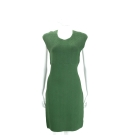 Michael Kors Fitted Jacquard 綠色幾何編織無袖洋裝