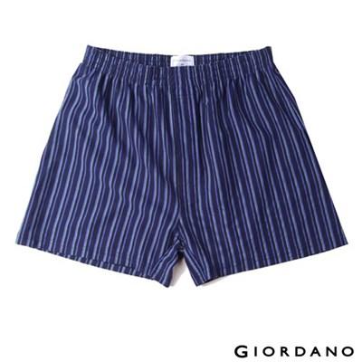 GIORDANO高品味沉穩條紋配色四角褲(67深藍)-01170004