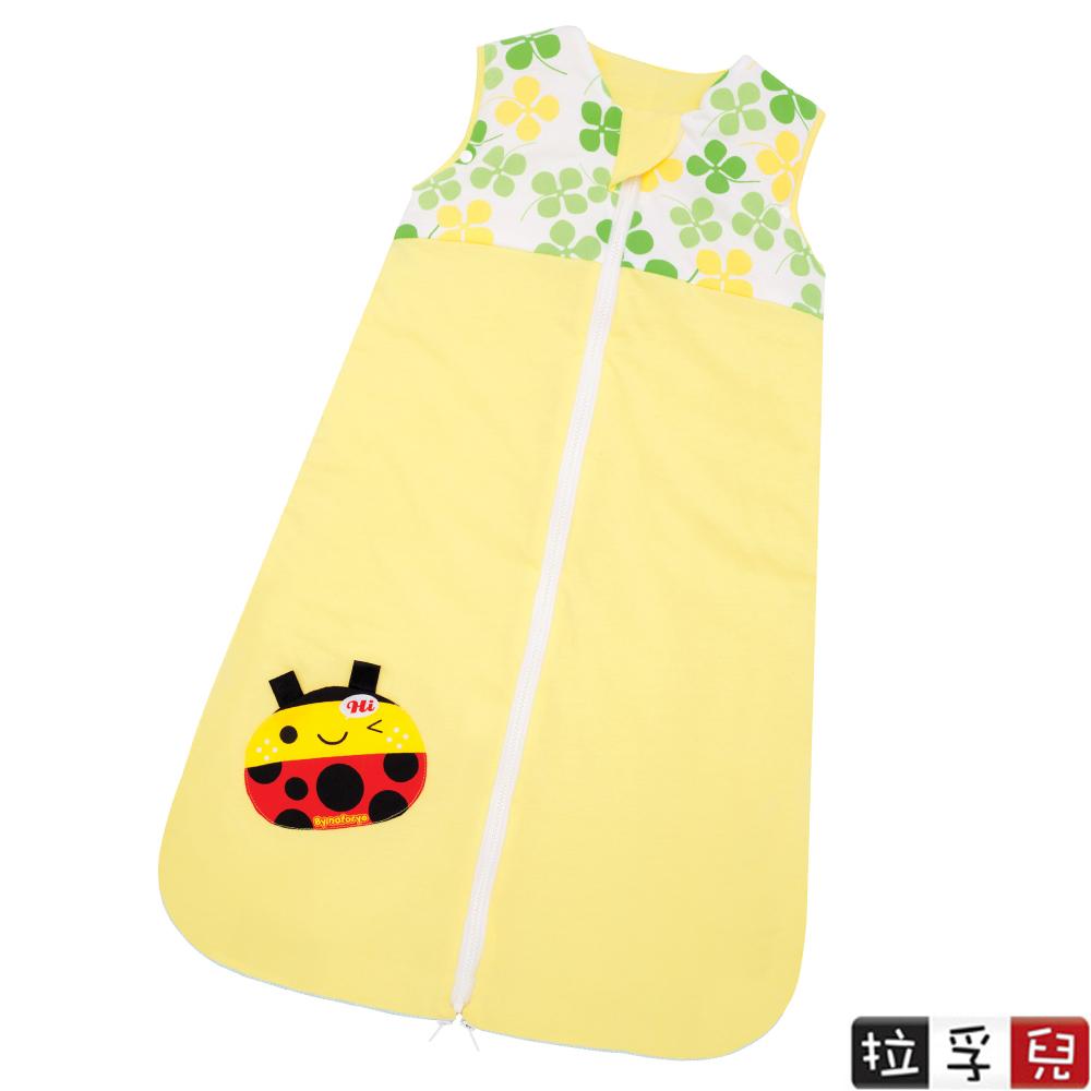【拉孚兒 Naforye】秋冬舒棉2in1嬰兒睡袍抱袋/前開拉鍊款-瓢蟲