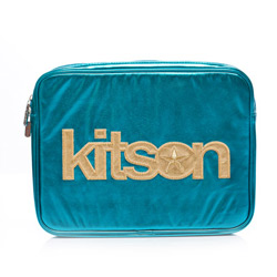 kitson 金屬光 NB / i-Pad 收納包-BLUE