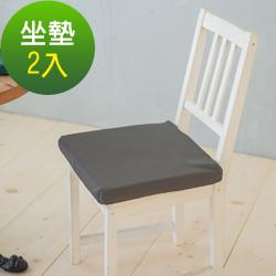 凱蕾絲帝-台灣製造-久坐專用二合一高支撐記憶聚合紓壓坐墊-深灰-2入