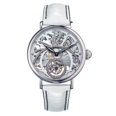 DAVOSA Grande Diva 歌蘭德女神全鏤空機絕版械錶/42/白/白鑽
