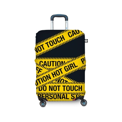 BG Berlin 行李箱套-黃色警示 M (適用22-24吋行李箱)