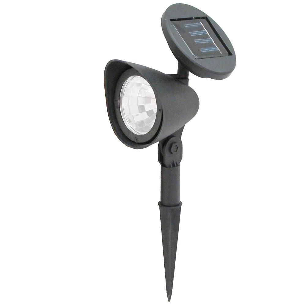 月陽可調太陽能充電式自動光控3LED庭園燈草坪燈插地燈超值2入(50112)