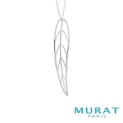 MURAT Paris米哈巴黎 優雅鏤空葉子長項鍊