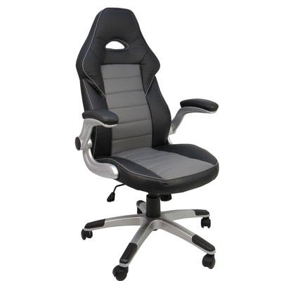 Design飆風黑灰 辦公椅/賽車電腦椅