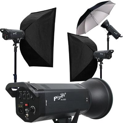 Piyet- 大型專業攝影棚雙燈組合 ( PK-400G )