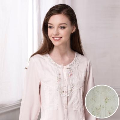 羅絲美睡衣 - 奢華典藏蕾絲長袖褲裝睡衣 (純真黃)