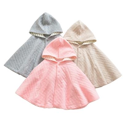 兒童純棉連帽斗篷保暖外套-共4款