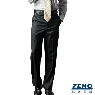 ZENO 經典條紋平面西裝褲‧黑色31-42
