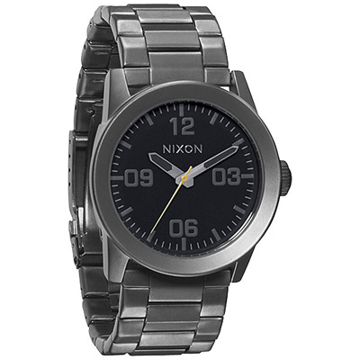 NIXON The CORPORAL SS 曠野風潮時尚運動腕錶-鐵灰/41mm