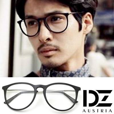 DZ-潮人簡約-平光眼鏡-亮黑