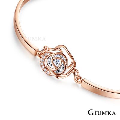 GIUMKA薔薇甜心手鍊 鏤空花朵造型 精鍍玫瑰金