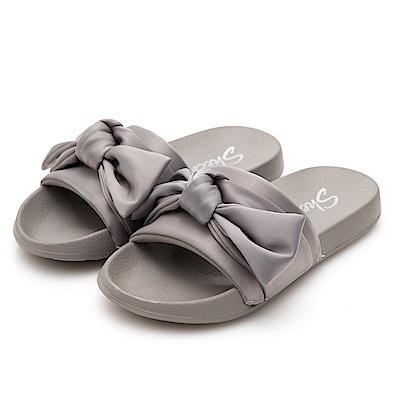 SKECHERS (女) 時尚休閒系列 2ND TAKE 拖鞋- 31533GRY