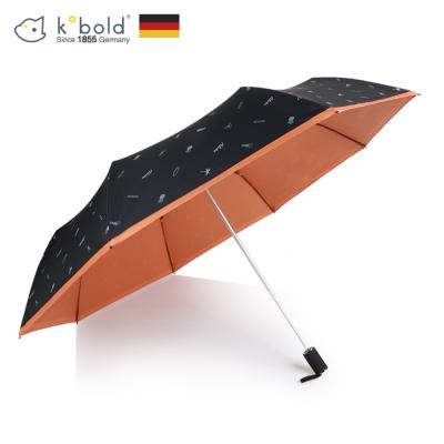 德國kobold酷波德 抗UV夏威夷風情-超輕巧 遮陽防曬三折傘-橘色B
