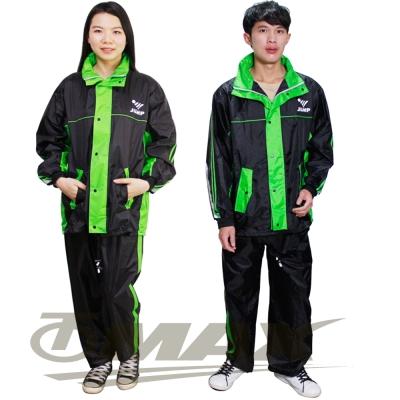 JUMP第二代雅仕套裝雨衣+通用鞋套-黑綠
