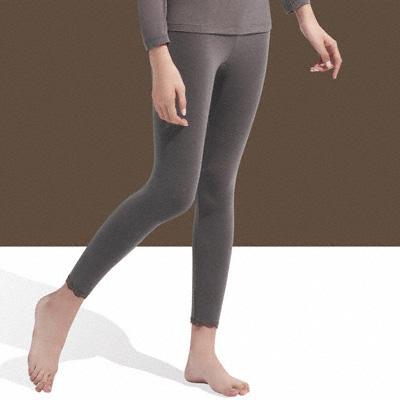 【華歌爾】中空保暖M-LL內搭8分褲(可可紫)