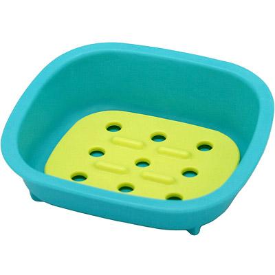 Sceltevie 濾水肥皂盒(藍綠)