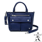PORTER - 輕甜繽紛SPIRIT小型兩用復古手提包 - 海軍藍(銀)