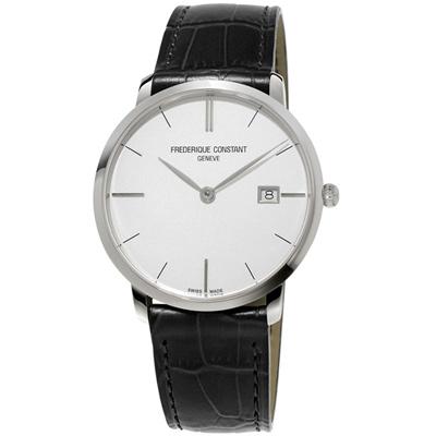 康斯登 CONSTANT SLIMLINE超薄系列MIDSIZE DATE腕錶-黑