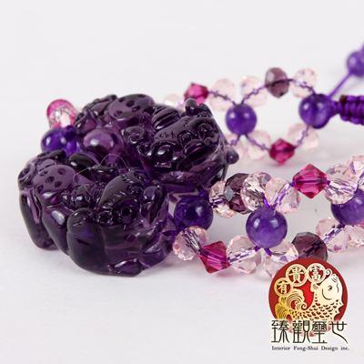 紫琉璃貔貅手鏈/手鍊