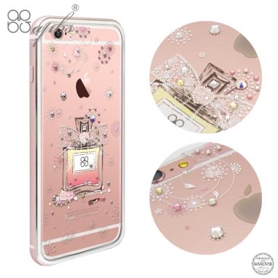 apbs iPhone6s/6 PLUS 施華洛世奇彩鑽金屬框手機殼-玫瑰金維也...