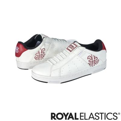 Royal Elastics 簡潔LOGO休閒男鞋-白紅
