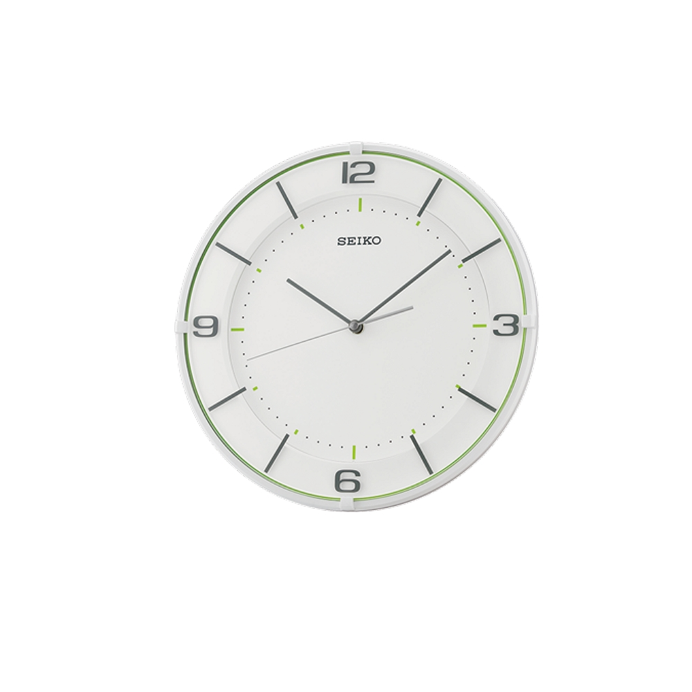 SEIKO 日本精工 滑動式秒針 靜音掛鐘(QXA690W)-白/32cm
