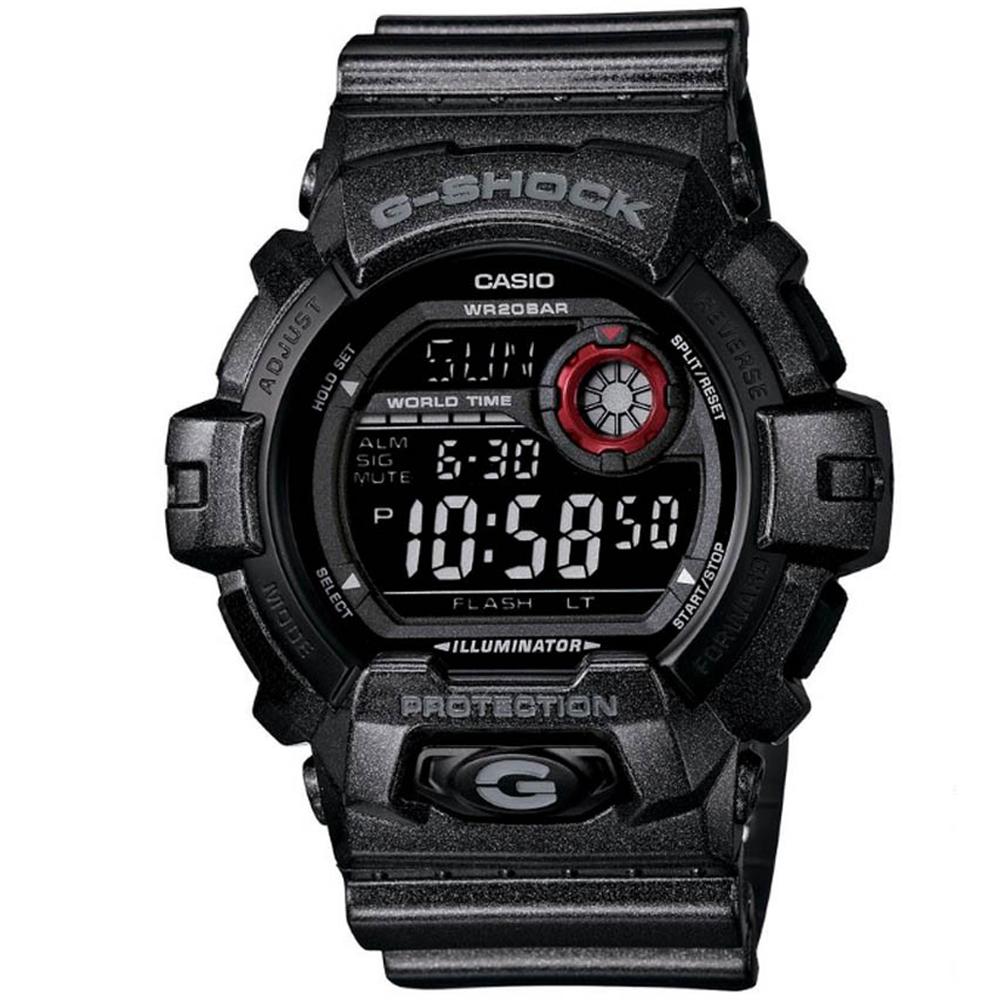 G-SHOCK 獨特金屬粒子光感設計運動休閒錶(G-8900SH-1)-黑/52mm