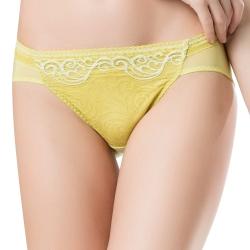 思薇爾 撩波系列蕾絲低腰三角褲(楊桃綠)