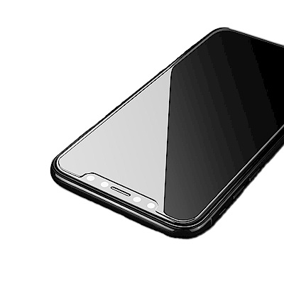 iPhone X 半版2.5D弧邊疏油防水鋼化玻璃膜(2入組)