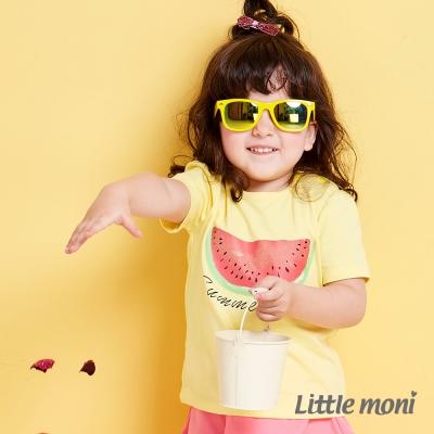 Little moni 清甜西瓜女孩短袖上衣 黃色