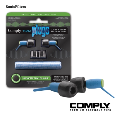 Comply SonicFilters 隔音減噪泡綿耳塞 (1-pair)