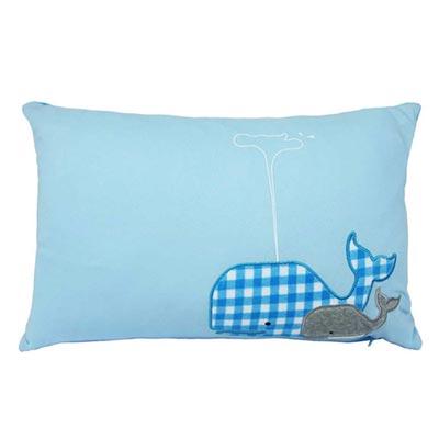 Yvonne-鯨魚30x45cm方形抱枕-淺藍