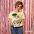 gozo 畢卡索插畫珍珠裝飾短袖棉T(二色)