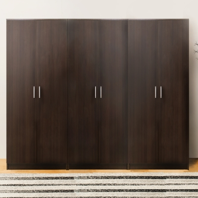 Bernice-亞諾7尺六門衣櫃(胡桃色)-210x51x180cm