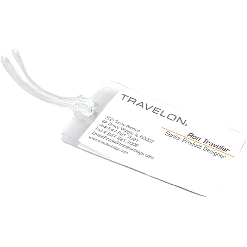 TRAVELON 自黏式行李箱掛牌(3入)
