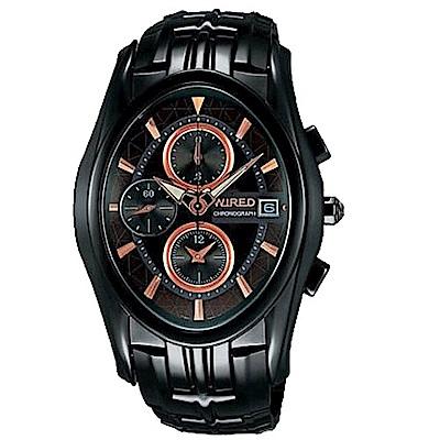 WIRED 剽悍武士計時腕錶(AF 8 J 41 X)-鍍黑