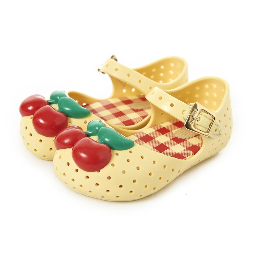 MINI MELISSA甜美櫻桃童鞋-米黃
